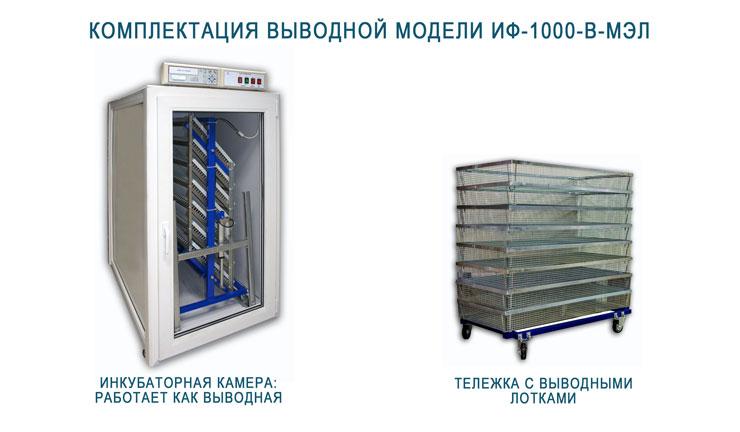 Комплектация выводной камеры инкубатора ИФ-1000-В-МЭЛ