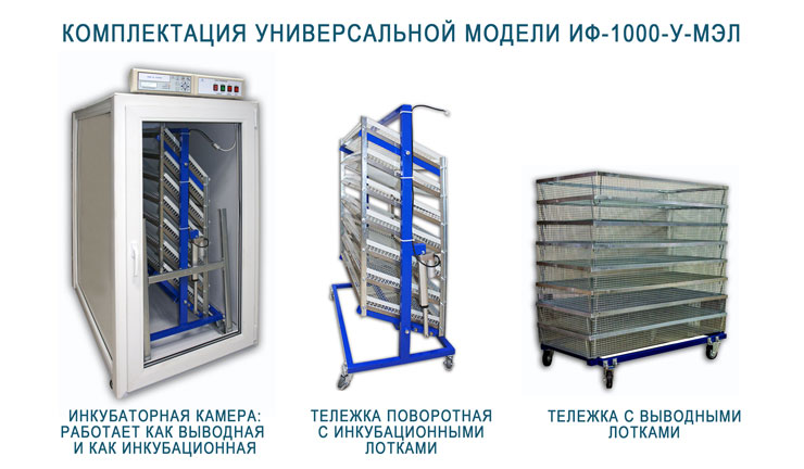 Комплектация универсального инкубатора ИФ-1000-У-МЭЛ